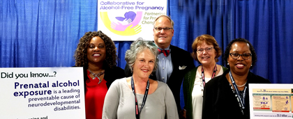 NASW 2018 Conference Prenatal Alcohol Prevention Group Photo With Foundation Staff