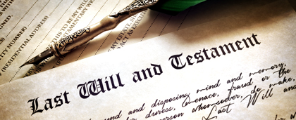 Copy Of Last Will And Pen