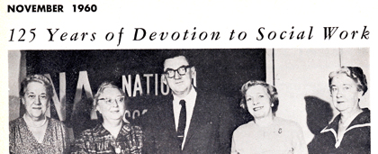 1960 News Clip Photo Of Social Workers Celebrating 125 Years Of Social Work - From NASW Archives