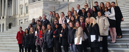 Social Work HEALS Scholars Group In Front Of Capitol Building D.C.