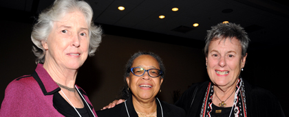 Dr. Betsy Vourlekis, Dr. Wilma Peebles-Wilkins, Suzanne Dworak-Peck, MSW, At NASW 60th Anniversary Event, 2015